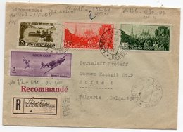 Air Mail  Registered Liepāja Riga Latvia Sofia 1949 - Covers & Documents