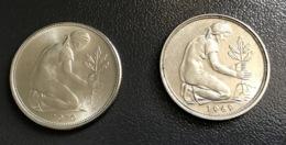 GERMANIA - DEUTSCHLAND  2 Monete 50 PFENNIG 1969 J E 1970 F Ottime - [ 7] 1949-… : RFA - Rep. Fed. Tedesca
