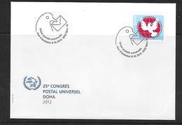 Schweiz  UPU 2012  FDC  25. Kongress Der UPU In Dohar - FDC
