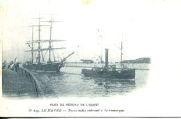 N°68335 -cpa Le Havre -trois Mats Entrant à La Remorque- - Remorqueurs