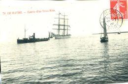 N°68339 -cpa Le Havre -entrée D'un Trois Mats- - Commerce