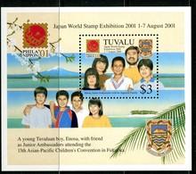 Tuvalu 2001 PhilaNippon '01 Stamp Exhibition MS MNH (SG MS999) - Tuvalu