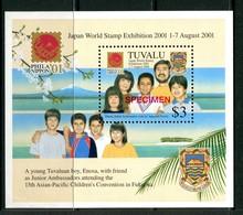 Tuvalu 2001 PhilaNippon '01 Stamp Exhibition - SPECIMEN - MS MNH (SG MS999) - Tuvalu