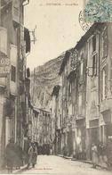 Carte Postale Ancienne Sisteron Grand Rue - Sisteron