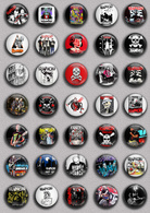 35 X Rancid Band Music Fan ART BADGE BUTTON PIN SET 2 (1inch/25mm Diameter) - Music