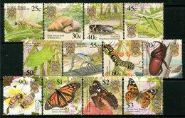 Tuvalu 2001 Insects Set CTO Used (SG 1010-1021) - Tuvalu