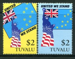 Tuvalu 2002 United We Stand - Support For Victims Of 11 September 2001 Set MNH (SG 1022-1023) - Tuvalu