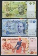 5-10 - 20 Dinars NEUFS ( ENVOI GRATUIT) // 5 -10 -20 Dinars UNC (FREE SHIPPING) - Tunisie