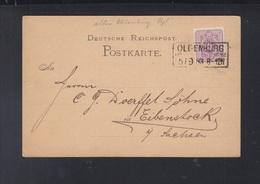 Dt. Reich PK 1883 Oldenburg Kastenstempel - Briefe U. Dokumente