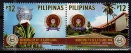 PHILIPPINES, 2018, MNH,  MUNICIPALITY OF LA CASTELLANA, ARCHTIECTURE, TREES, 2v - Geography
