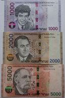 Armenia 2018 NEW Banknote - 1000 2000 5000 Dram UNC Hybrid Technology - Arménie