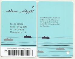 Kabinenkarte Cabin Card Vom Kreuzfahrtschiff Mein Schiff (01) - Hotelkarten