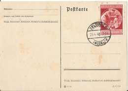 CPA Allemande WW2 : Anniversaire Du Fuhrer , Avril 1940 Timbre . MOSELLE . - Personnages
