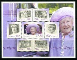 Tuvalu 2002 Queen Elizabeth The Queen Mother Commemoration Sheetlet MNH (SG 1059-1065) - Tuvalu