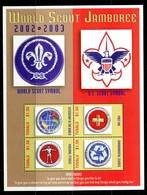 Tuvalu 2002 World Scout Jamboree Sheetlet MNH (SG 1067-70) - Tuvalu