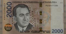 Armenia 2018 NEW Banknote - 2000 Dram UNC Hybrid Technology Chess World Champion - Arménie