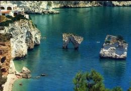 Riviera Sud Del Gargano - Foggia - I Faraglioni Di Baia Dei Mergoli - Formato Grande Viaggiata – E 9 - Italia