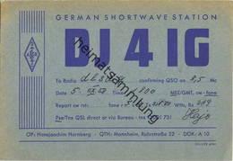 QSL - Funkkarte - DJ4IG - Mannheim - 1958 - Amateurfunk
