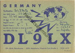 QSL - Funkkarte - DL9LX - Mannheim - 1959 - Amateurfunk