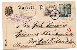 Tarjeta Postal Con Matasellos Censura De Madrid Y Matasellos Division Azul De 1941 - 1931-Hoy: 2ª República - ... Juan Carlos I