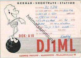 QSL - Funkkarte - DJ1ML - Mannheim - 1959 - Amateurfunk