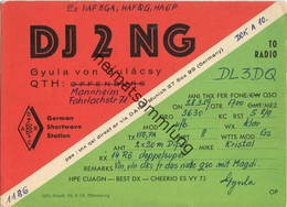 QSL - Funkkarte - DJ2NG - Mannheim - 1959 - Amateurfunk