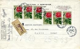 Lettre Enregistrée Et Perforée - Propriété Industrielle - Yet T 1356 - France