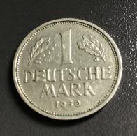 "GERMANIA - DEUTSCHLAND - 1950 - 1 MARCO "" J "" , Ottime Condizioni - [ 7] 1949-… : FRG - Fed. Rep. Germany"