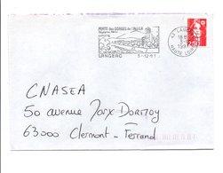 FLAMME DE LANGEAC HAUTE LOIRE 1991 - Poststempel (Briefe)