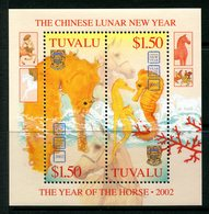 Tuvalu 2003 End Of Chinese New Year - Year Of The Horse MS MNH (SG MS1082) - Tuvalu