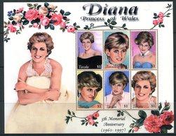 Tuvalu 2003 Fifth Death Anniversary Of Diana, Princess Of Wales Sheetlet MNH (SG 1086-1091) - Tuvalu