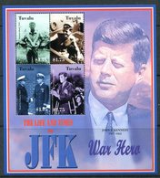 Tuvalu 2003 Life And Times Of President John F. Kennedy MS Pair MNH (SG MS1093-1094) - Tuvalu