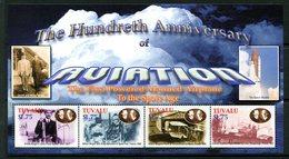 Tuvalu 2003 Centenary Of Powered Flight MS (4) Set MNH (SG MS1095-1097a/b) - Tuvalu