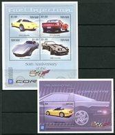 Tuvalu 2003 50th Anniversary Of General Motors Chevrolet Corvette MS (2) Set MNH (SG MS1104-1105) - Tuvalu