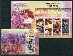 Tuvalu 2003 Centenary Of Tour De France Cycle Race MS (2) Set MNH (SG MS1106-1107) - Tuvalu