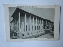 Paris 1931. Exposition Coloniale Internationale. Musee Des Colonies. Bas-relief De Janninot. Laprade Et Jaussely, Archs - Exhibitions
