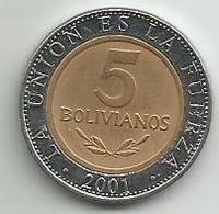 Bolivia 5 Bolivianos 2001. - Bolivia