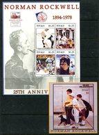 Tuvalu 2004 25th Death Anniversary Of Artist Norman Rockwell MS (2) Set MNH (SG MS1115-1116) - Tuvalu