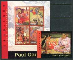 Tuvalu 2004 Death Centenary Of Paul Gaugin MS (2) Set MNH (SG MS1121-1122) - Tuvalu