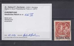 Deutsches Reich 135 PF IV Gestempelt Mit Fotobefund Oechsner BPP #T386 - Deutschland