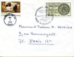 1783-1983 - 200 Ans Traité De Paris Et Versailles - Emission Commune France - USA - Autres