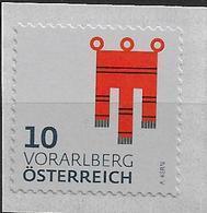 2018 Austria Österreich Mi. **MNH Heraldik Österreich II Voralberg - 1945-.... 2ª República