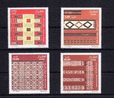 Algerien 1188-1191 ** Postfrisch Kunsthandwerk Wandteppiche, MNH #RB790 - Algeria (1962-...)
