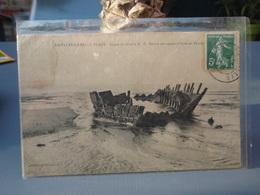 Cpa Asnelles-sur-Mer Epave Du Martia C.D Navire Norvégien échoué En Février 1910, Timbre - France
