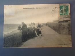 Cpa Asnelles-sur-Mer La Digue 1910, Timbre - France