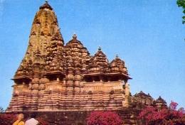 Kandharya Maha Deva Temple - Khajurao - Formato Grande Non Viaggiata – E 9 - India