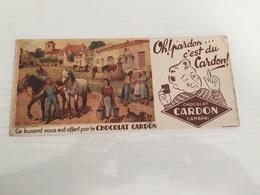 Buvard Ancien CHOCOLAT CARDON CAMBRAI - Chocolat
