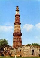 Delhi - The Qutb Minar - Begun In 1199 - Formato Grande Non Viaggiata – E 9 - India