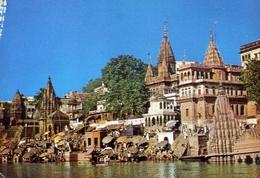Bathing Ghat - Varanasi - Formato Grande Non Viaggiata – E 9 - India
