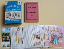 Jeu De 54 Cartes Mlle Lenormand Cartomancie Grimaud 1970 Pratiques Secrètes Type TAROT - Tarot-Karten